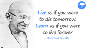 Live as if you were to…